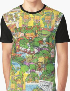 Vintage Comic Teenage Mutant Hero Turtles Graphic T-Shirt