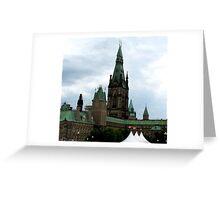 parliament buildings, Ottawa Greeting Card