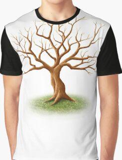 Wedding Guest Signature Tree Memento Graphic T-Shirt