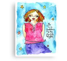 Starlit Night Goddess Canvas Print
