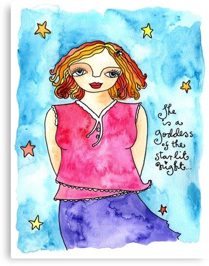 Starlit Night Goddess by GoddessLeonie