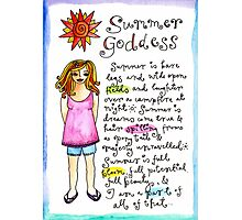 Summer Goddess Photographic Print