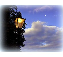 Lamp in the Clouds Photographic Print