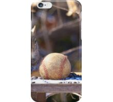 Squirrel baseball and bat iPhone Case/Skin