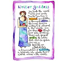 Writer Goddess Photographic Print