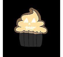 Jack o Lantern Cupcake  Photographic Print