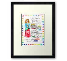 You Are A Goddess Framed Print