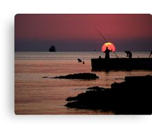 Spanish sunset Canvas Print