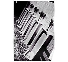 Urinal Line Poster