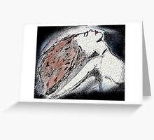 Red Haired Dancer Greeting Card