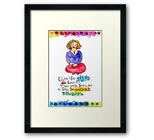 You Are Gifted Framed Print