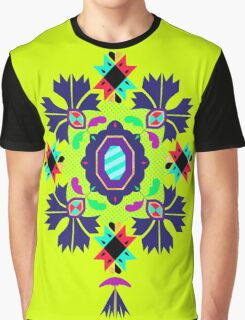 9 Flowers green Graphic T-Shirt