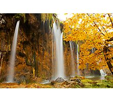 Waterfall in Plitvice Photographic Print