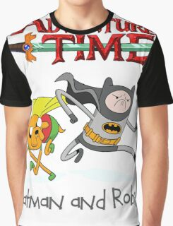 Adventure Time Batman and Robin Graphic T-Shirt