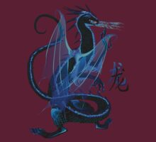 Blue Fire and Chinese Symbol by Lotacats