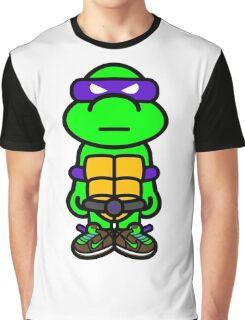 Purple Renaissance Turtle Graphic T-Shirt