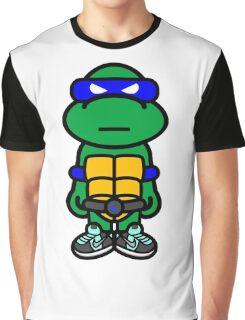 Blue Renaissance Turtle Graphic T-Shirt