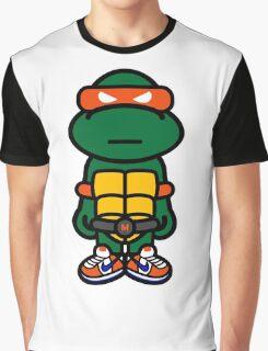 Orange Renaissance Turtle Graphic T-Shirt