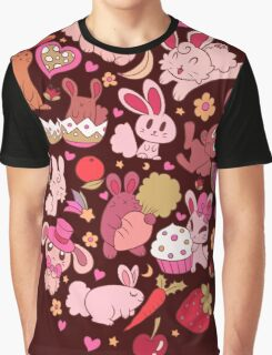 Adorable Bunnies Graphic T-Shirt