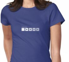 Sierpinski Carpet Womens Fitted T-Shirt