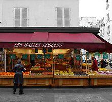 A Fruit Vendor in Paris by Tom  Reynen