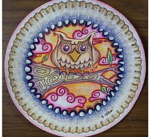 owl paper plate by Tabitha  Seaton