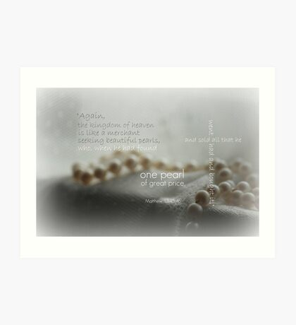 One Pearl of Great Price Art Print