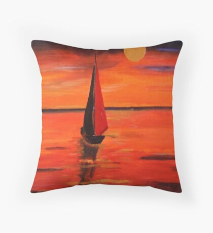 Late Afternoon On The Lake Throw Pillow