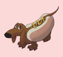 Dachshund in Hot Dog Costume Kids Clothes