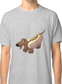 Dachshund in Hot Dog Costume Classic T-Shirt