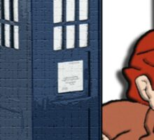 The Doctor is Braided Sticker