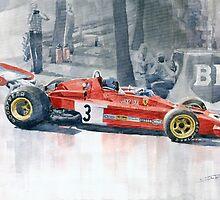 Ferrari 312 B3 Monaco GP 1973 Jacky Ickx by Yuriy Shevchuk