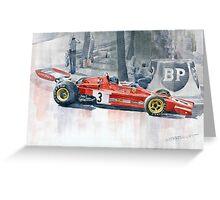 Ferrari 312 B3 Monaco GP 1973 Jacky Ickx Greeting Card