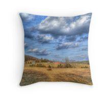 Farm On A Hill Throw Pillow