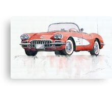 Chevrolet Corvette C1 1960 Canvas Print
