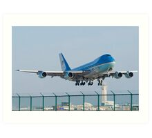 Air Force One Lifts Off from KCLE January 2012 Art Print
