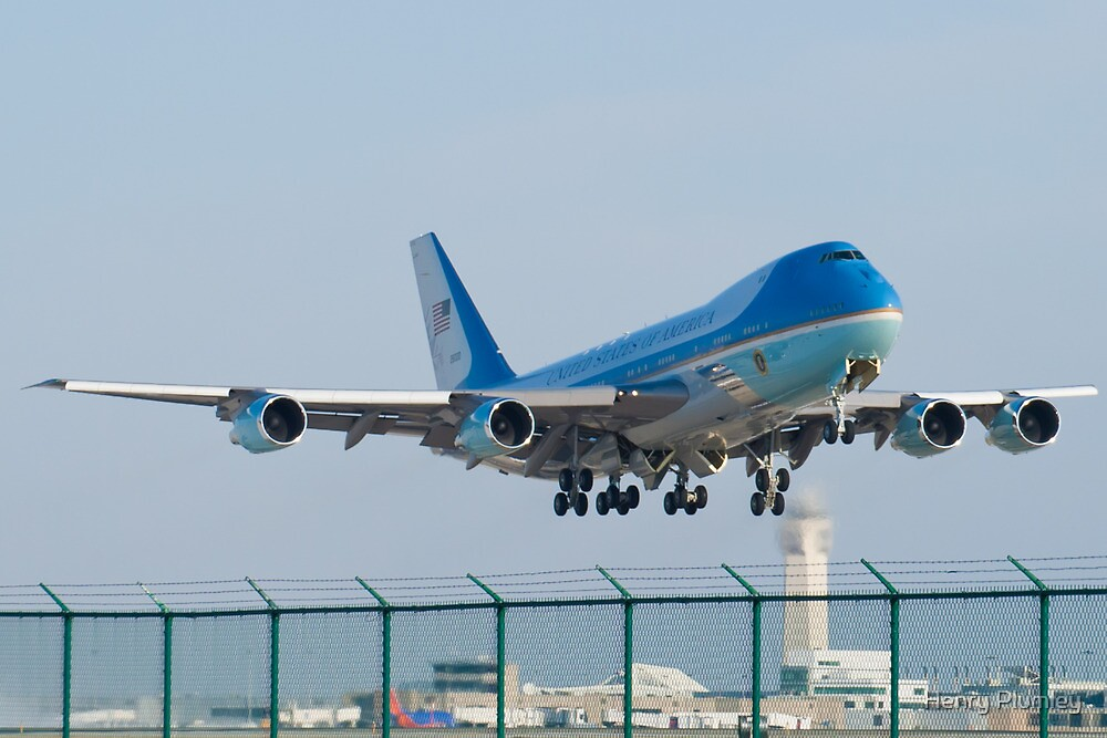 Air Force One Lifts Off from KCLE January 2012 by Henry Plumley
