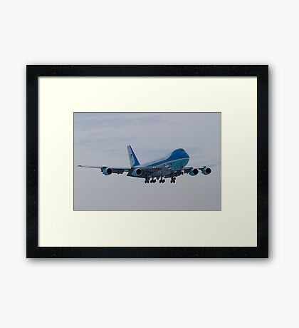 Head On Shot of 92-9000 on Approach to KCLE January 2012 Framed Print