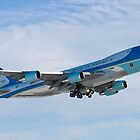 Side Shot of Air Force One Departing KCLE January 2012 by Henry Plumley