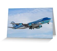 Side Shot of Air Force One Departing KCLE January 2012 Greeting Card