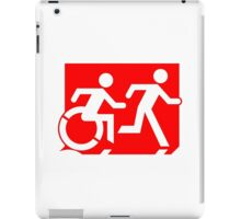 Emergency Exit Sign, with the Accessible Means of Egress Icon and Running Man, part of the Accessible Exit Sign Project iPad Case/Skin