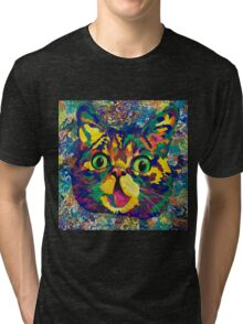 Spectra Lil Bub revisited Tri-blend T-Shirt