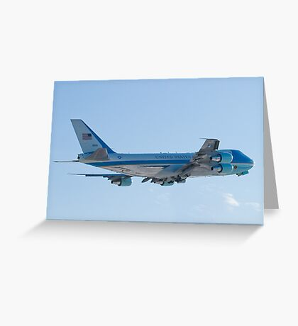 Rear Shot of 92-9000 Air Force One Departing KCLE January 2012 Greeting Card