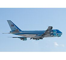 Rear Shot of 92-9000 Air Force One Departing KCLE January 2012 Photographic Print