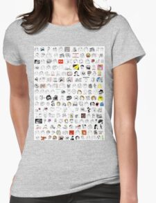 Meme Collage Womens Fitted T-Shirt