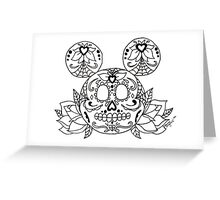 Mickey Mouse Sugar Skull Greeting Card