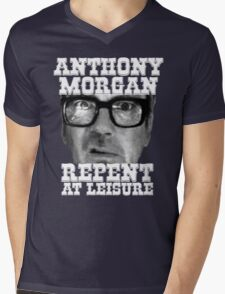 Anthony Morgan - Repent At Leisure (white) Mens V-Neck T-Shirt