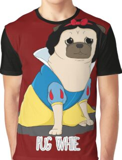 Pug White Graphic T-Shirt