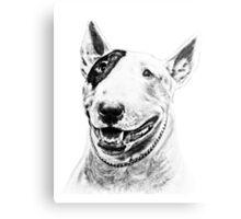 Comical Bull Terrier Metal Print