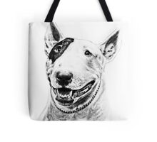 Comical Bull Terrier Tote Bag
